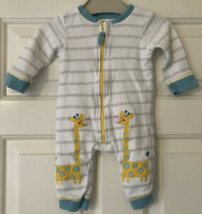 Baby Boys Babygrow Age 0-3 Months From M&co Giraffe