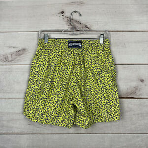 Vilebrequin Men's M Yellow Swim Trunks Turtles Swim Shorts