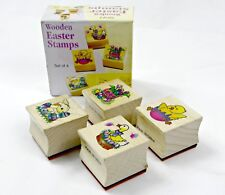 Wooden Easter Stamps, Wood Block Stamps, Set of 4