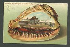 1907 Postcard Boardwalk Showing Brighton Casino Atlantic City N.J. Conch Shell
