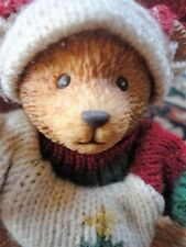 Russ Jointed Teddy Bear Christmas Sweater Plastic 5 in