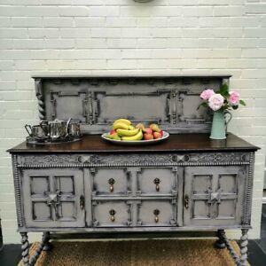Jacobean / Victorian Style Dark Oak 2 Door 2 Drawer Sideboard Buffet