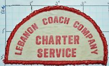 Lebanon Coach Company Charter Service Pennsylvania Bus Vintage Patch
