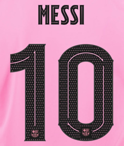 2020/21 FC Barcelona #10 Messi Third Jersey Name Set  ( name set only )