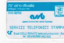 OFFERTA USI SPECIALI STAMPA 75^ GIRO D 'ITALIA  -4033  BANDA NERA FRECCIA GRANDE