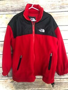 VTG The North Face Summit Series Jacket Red Rain USA Youth Kids Fleece L