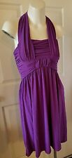 Max and Cleo Purple Halter Dress Size 2