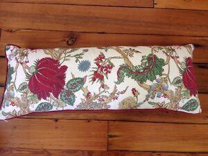 Pottery Barn Chintz Floral Long Cotton Linen Blend Lumbar Throw Cushion Pillow