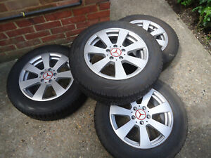 4 x 16 MERCEDES AlLOY WHEELS and 205/65/16c TYRES WILL FIT R Class VITO/VIANO