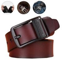 Men Genuine Leather Belt Classic Pin Buckle Waist Belt Waistband Belts Strap