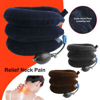 Air Inflatable Cervical Neck Traction Device Collar Brace Support Pain Relief US
