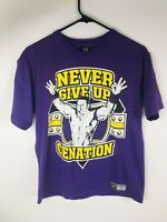 Vintage John Cena WWE Never Give Up U Cant C ME  Purple T Shirt Size Medium