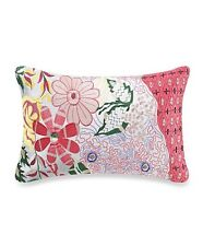 (2) Anthology™ Tia Embroidered and Beaded Oblong Throw Pillows