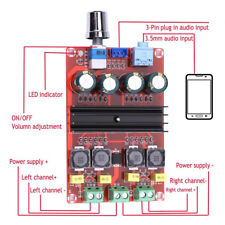 TPA3116 2x100W Dual Channel Audio Speaker Digital Amplifier Board 12V-24V AT7#