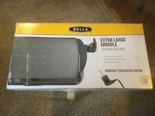 "Nib Bella Extra Large Griddle. 10.5"" x 20"". Upc neatly cut off the bottom."