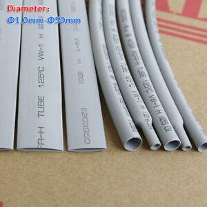 Φ1.0mm~50mm 2:1 Gray Heat Shrink Heatshrink Tube Tubing Wire Sleeving Wrap 1/5M
