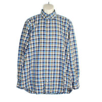 Peter Millar Long Sleeve Button Down Shirt Mens Size XL Cotton Multicolor Plaid