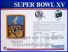 SUPER BOWL 15 Raiders / Eagles 1981 Willabee Ward OFFICIAL SB XV NFL PATCH CARD