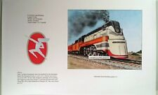 Railroad Train Art Milwaukee Road 4-6-2 Streamlined Hiawatha Signed Print