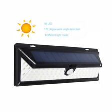 34/66/90LED Solar Power PIR Motion Sensor Wall Light Outdoor Garden Walkway Lamp