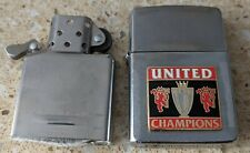 More details for original zippo chrome lighter - customised for a manchester united theme - used