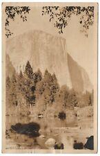 El Capitan Yosemite RPPC Vintage Postcard Camp Curry CA Vintage Postcard 1927