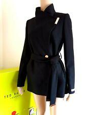 TED BAKER KEYLA BLACK WOOL CASHMERE WRAP COAT UK 6 TED 0 USA 2  RRP £269 BNWT
