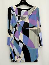 Emilio Pucci Blue Printed Top Blouse UK12 IT44 Dress RRP690GBP