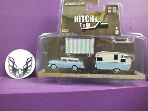 Greenlight Hitch & Tow 1955 Chevrolet Nomad and Shasta Airflyte Series 16 32160