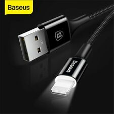 Baseus LED USB to Lightning Charger Cable Charging Lead for iPhone XS XR 8 6s SE