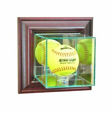 *NEW Wall Mounted Softball Glass Display Case  NCAA Free Shipping Made in USA