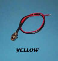 LED - 5mm PRE WIRED 12 VOLT WITH CHROME BEZEL - YELLOW