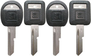 "4 NEW GM Logo OEM ""C"" IGNITION +""D"" DOORS/TRUNK Key Blanks Uncut 594032 + 593719"
