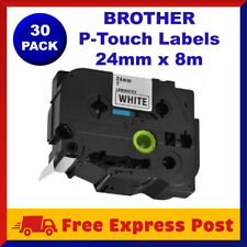 30 Pack TZ-251 TZe-251 Brother Black on White P-Touch Labels Tape Label 24mm x8m