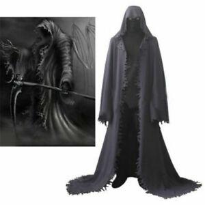 Grim Reaper Cosplay Costume Cloak Full Set Mask Halloween Custom Made Unisex New