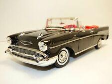CHEVROLET BEL AIR cabriolet  noir 1957 1/18