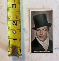 Famous Films Stars Card: Gary Cooper #1 Tobacco Card: Ardath 1934