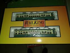 MTH Rail King 30-2889-3  Chicago 2-Car 6200  Subway Set w/green roof add on NEW!