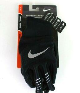 Nike Therma-Fit Elite 2.0 Run Gloves Womens Black/Silver Size M/M Medium New
