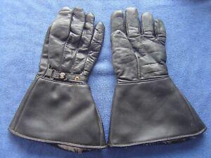 Vintage motorcycle leather gauntlets