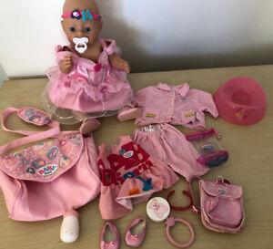 Zapf Creation Baby Born Doll Dummy Bottle Accessories Clothes BUNDLE