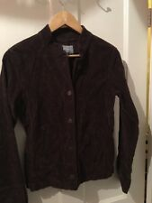 Marks And Spencer Per Una Size 8 Brown Cord Jacket