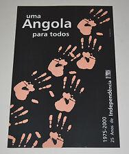 Political Cuban POSTER.OSPAAAL Angola para todos.ORIGINAL.African.Socialist art