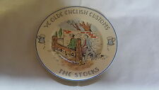 Old English Customs vintage Art Deco antique wall plate – The Stocks