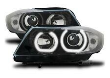 FARI FANALI ANTERIORI BMW SERIE 3 E90 ANGEL EYES LENTICOLARE NERO