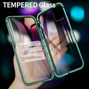 360° Magnetic Tempered Glass Case For iPhone 12 Pro Max 11 XS XR 7 8 Plus SE 2nd