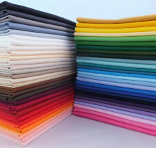Solid 100% Cotton Bulk Fabric Quilt Sewing Patchwork Upholstery Material Crafts