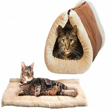 Pet Accessories  Warmer Winter Kitty Shack - 2 in 1 Tube Cat Mat and Tunnel Bed