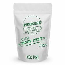 Purisure Monk Fruit Extract 125g (400 Servings), Zero-Carb Sugar Substitute