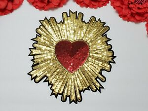 Heart  patch, Fashion Sequin patch, Iron on patch